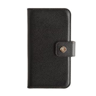 ドイツ製本革使用手帳型ケース invite.L Stud ブラック iPhone 6s/6
