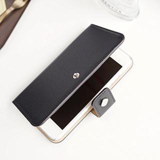 【iPhone6ケース】ドイツ製本革使用手帳型ケース invite.L Stud ブラック iPhone 6s/6_1