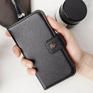 【iPhone6ケース】ドイツ製本革使用手帳型ケース invite.L Stud ブラック iPhone 6s/6_3