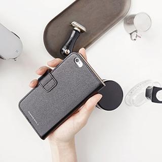 【iPhone6ケース】ドイツ製本革使用手帳型ケース invite.L Stud ブラック iPhone 6s/6_4