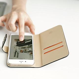 【iPhone6ケース】ドイツ製本革使用手帳型ケース invite.L Stud ブラック iPhone 6s/6_8