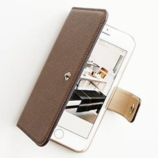 【iPhone6ケース】ドイツ製本革使用手帳型ケース invite.L Stud トープ iPhone 6_1