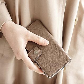 【iPhone6ケース】ドイツ製本革使用手帳型ケース invite.L Stud トープ iPhone 6_4
