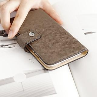 【iPhone6ケース】ドイツ製本革使用手帳型ケース invite.L Stud トープ iPhone 6_5