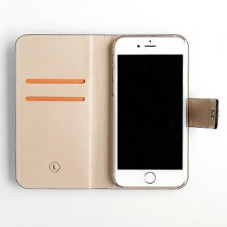 【iPhone6ケース】ドイツ製本革使用手帳型ケース invite.L Stud トープ iPhone 6_8
