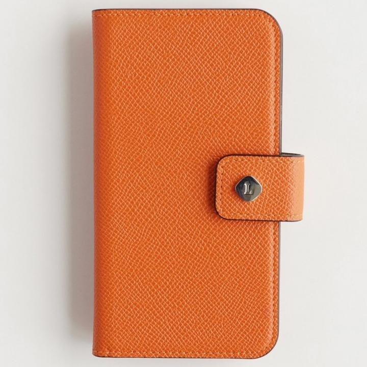 ドイツ製本革使用手帳型ケース invite.L Stud オレンジ iPhone 6 Plus