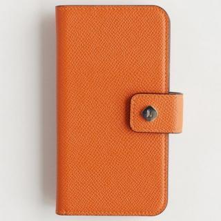 iPhone6 Plus/6 ケース ドイツ製本革使用手帳型ケース invite.L Stud オレンジ iPhone 6 Plus