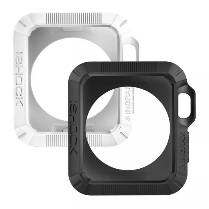 Apple Watch 38mmケース INGRAM iSHOCK モダンホワイト&マットブラック