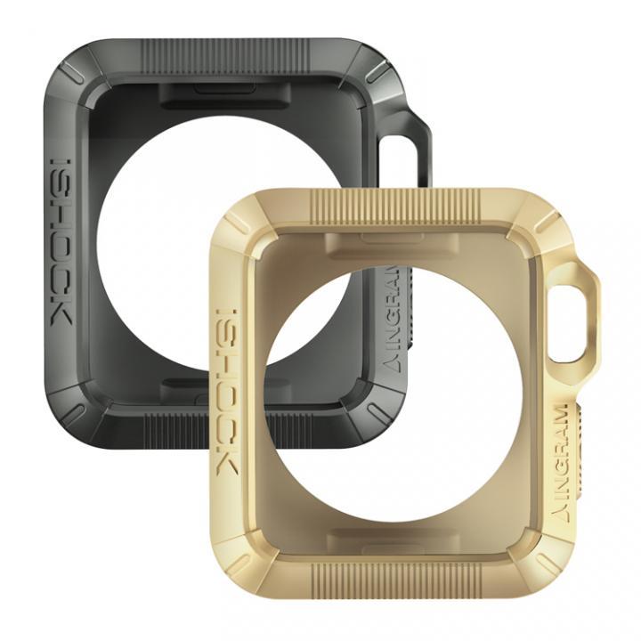 Apple Watch 42mmケース INGRAM iSHOCK グレー&ゴールド_0