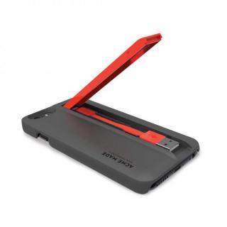 【iPhone6ケース】Lightningケーブル付きケース Charge グレイ/オレンジ iPhone 6_1