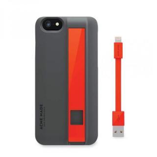 【iPhone6ケース】Lightningケーブル付きケース Charge グレイ/オレンジ iPhone 6_3
