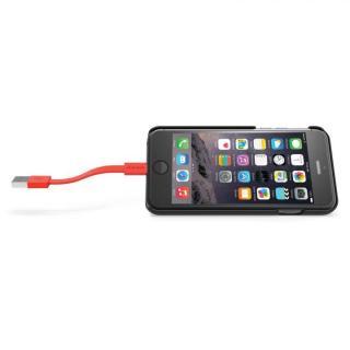 【iPhone6ケース】Lightningケーブル付きケース Charge グレイ/オレンジ iPhone 6_6