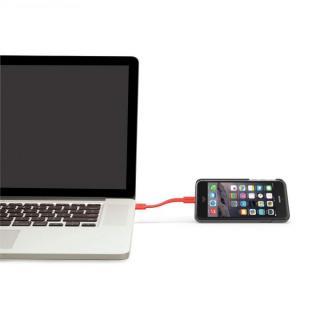 【iPhone6ケース】Lightningケーブル付きケース Charge グレイ/オレンジ iPhone 6_7