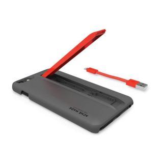 Lightningケーブル付きケース Charge グレイ/オレンジ iPhone 6 Plus