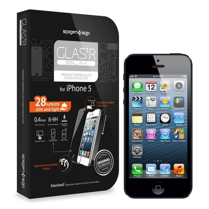 【iPhone SE/5s/5c/5】GLAS.t R SLIM Premium Glass Screen Protector