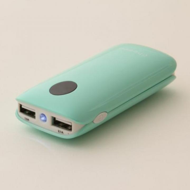 [5200mAh]cheero Grip モバイルバッテリー ミントグリーン_0