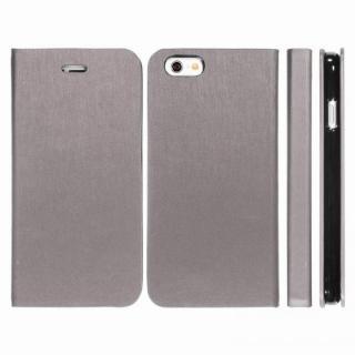 【iPhone6ケース】Highend Berryオリジナル 合皮手帳型ケース シルバーグレー iPhone 6