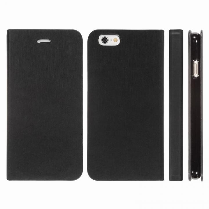 【iPhone6 Plusケース】Highend Berryオリジナル 合皮手帳型ケース ブラック iPhone 6 Plus_0