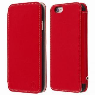 【iPhone6s Plus/6 Plusケース】Highend Berryオリジナル 本革手帳型ケース レッド iPhone 6s Plus/6 Plus