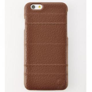 次元シリーズ 縫 3Dテクスチャー カードポケットケース 黒茶 iPhone 6