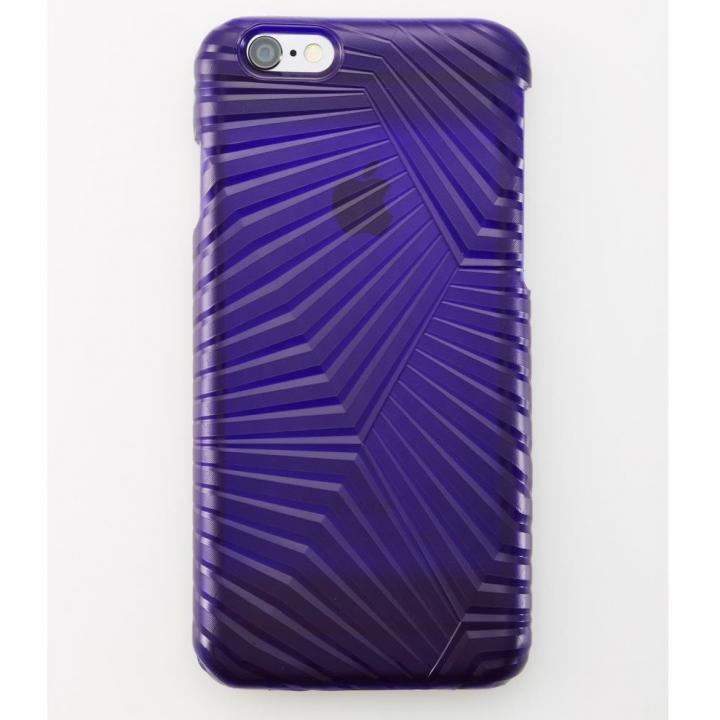 【iPhone6ケース】次元シリーズ 峰 3Dテクスチャー カードポケットケース 本紫 iPhone 6_0