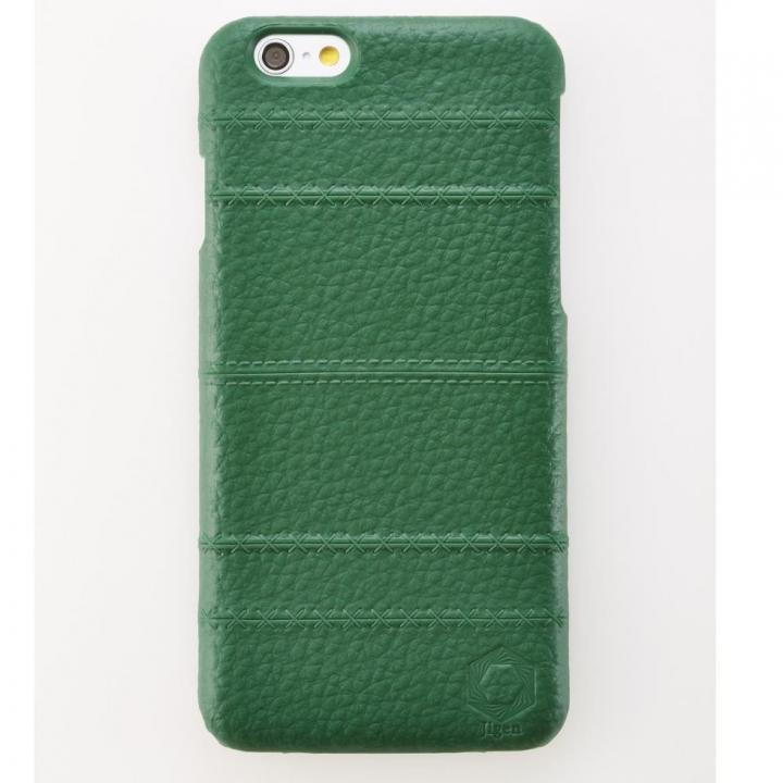 【iPhone6ケース】次元シリーズ 縫 3Dテクスチャー カードポケットケース 碧緑 iPhone 6_0