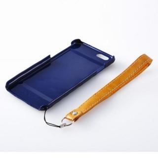【iPhone6ケース】次元シリーズ 衲 3Dテクスチャー カードポケットケース 鉄紺 iPhone 6_5