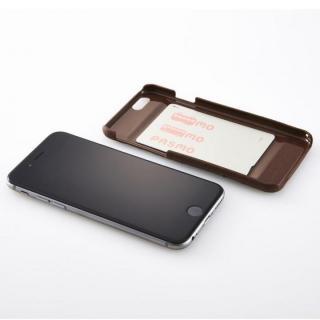 【iPhone6ケース】次元シリーズ 衲 3Dテクスチャー カードポケットケース 鉄紺 iPhone 6_6
