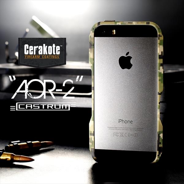 【iPhone SE/5s/5ケース】【限定】CASTRUM ミリタリーアルミバンパー AOR-2 iPhone SE/5s/5ケース_0