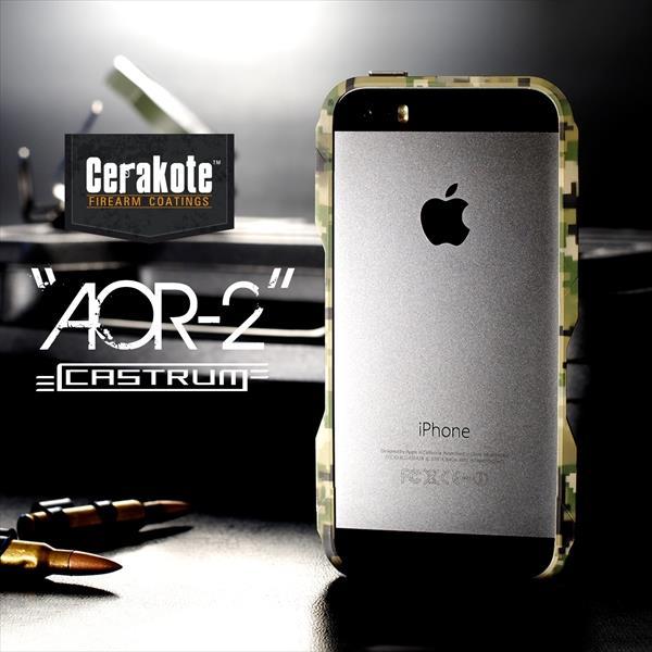 【限定】CASTRUM ミリタリーアルミバンパー AOR-2 iPhone SE/5s/5ケース