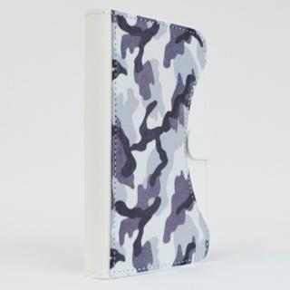 【iPhone SE/6/5s/5ケース】mobakawa mbook 本革手帳型ケース Mサイズ ホワイトカモフラージュ 多機種(iPhone/Android)対応_2