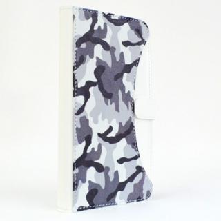 【iPhone SE/6/6 Plusケース】mobakawa mbook 本革手帳型ケース Lサイズ ホワイトカモフラージュ 多機種(iPhone/Android)対応_2