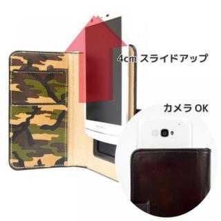 【iPhone SE/6/6 Plusケース】mobakawa mbook 本革手帳型ケース Lサイズ ホワイトカモフラージュ 多機種(iPhone/Android)対応_4