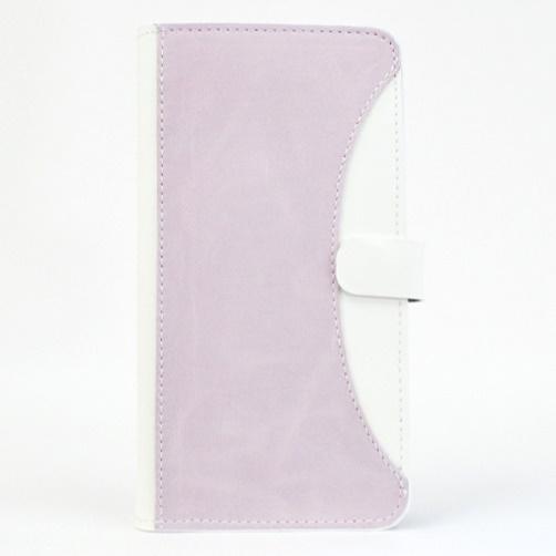 iPhone6/6 Plus ケース mobakawa mbook 本革手帳型ケース Lサイズ ラディアント・オーキッド 多機種(iPhone/Android)対応_0