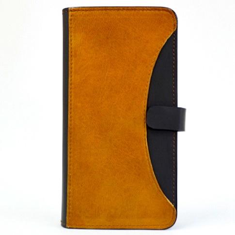 iPhone6/6 Plus ケース mobakawa mbook 本革手帳型ケース Lサイズ イタリアンホースナチュラル 多機種対応_0
