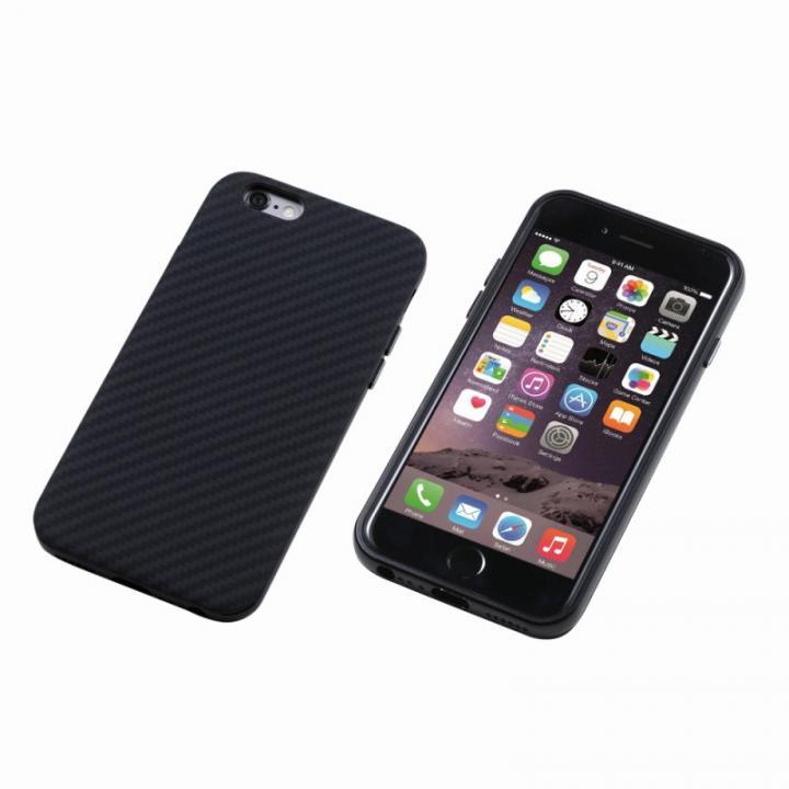 【iPhone6ケース】Deff ハイブリッドケース UNIO ケブラー ブラック iPhone 6_0