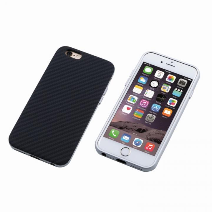 【iPhone6s/6ケース】Deff ハイブリッドケース UNIO ケブラー シルバー iPhone 6s/6_0