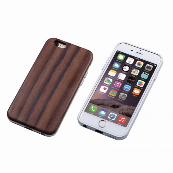Deff ハイブリッドケース UNIO 黒檀 シルバー iPhone 6