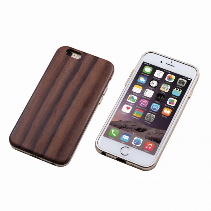Deff ハイブリッドケース UNIO 黒檀 ゴールド iPhone 6 Plus