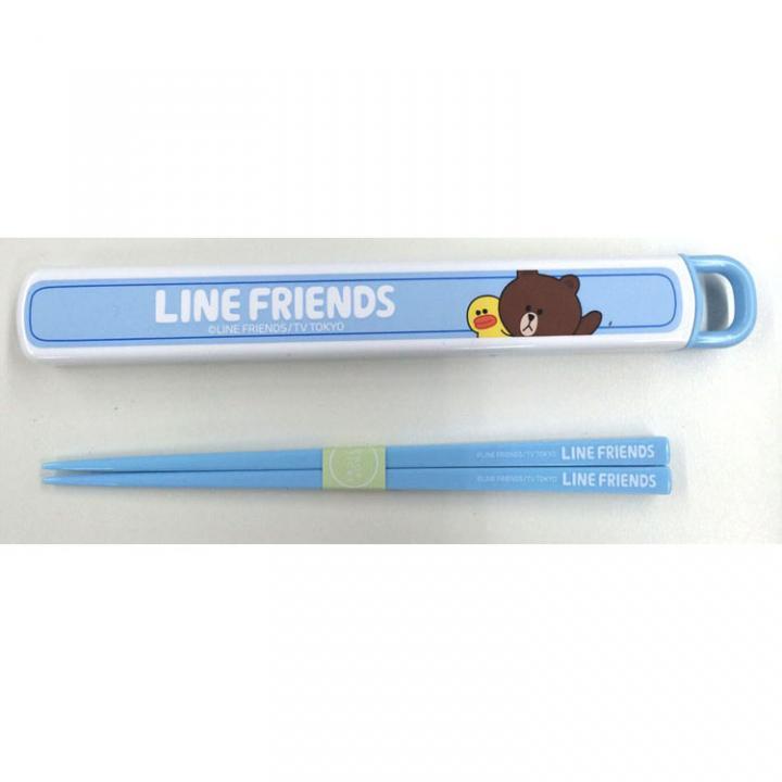 LINE スライド式箸箱セット2nd ブラウン_0