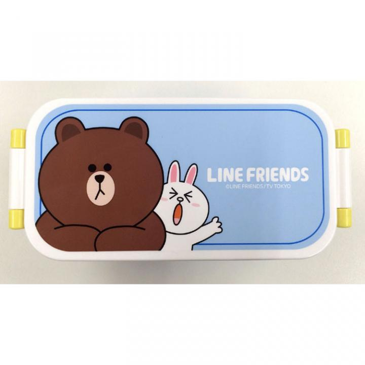 LINE 2段ランチボックス2nd ブラウン_0