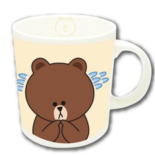 LINE マグカップ ブラウン_0