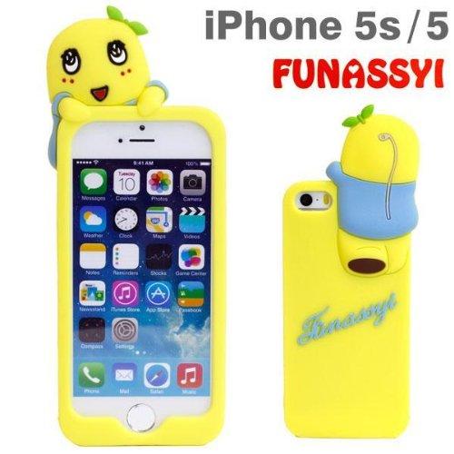ふなっしー iPhone SE/5s/5シリコンケース(よじのぼり)
