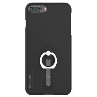 【iPhone8 Plus/7 Plusケース】AAUXX iRing 落下防止リング付きケース Slide ブラック iPhone 8 Plus/7 Plus