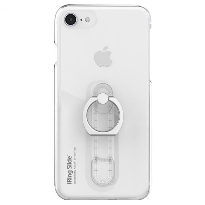 iPhone8/7/6s/6 ケース AAUXX iRing 落下防止リング付きケース Slide クリア iPhone 8/7/6s/6_0