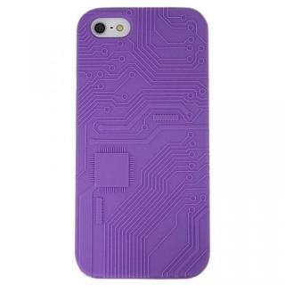 iPhone SE/5s/5 ケース E-CIRCUIT パープル  iPhone SE/5s/5