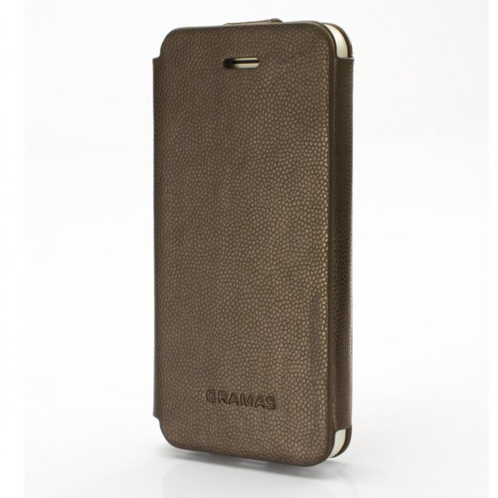 iPhone SE/5s/5 ケース 手入れの簡単なPUレザー PRECISION Leather ケース ダークブラウン iPhone 5s/5手帳型ケース_0