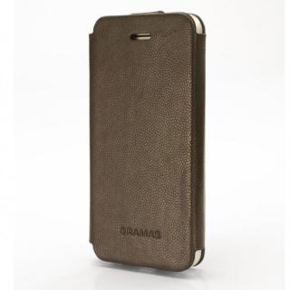手入れの簡単なPUレザー PRECISION Leather ケース ダークブラウン iPhone 5s/5手帳型ケース