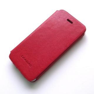 手入れの簡単なPUレザー PRECISION Leather Case レッド iPhone 5s/5手帳型ケース