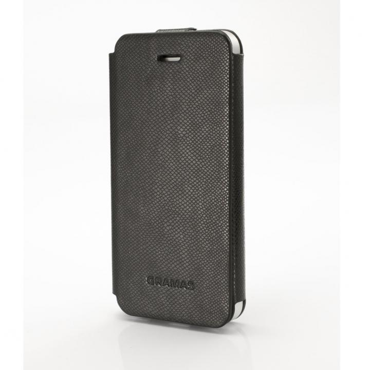 iPhone SE/5s/5 ケース 手入れの簡単なPUレザー PRECISION ブラック iPhone 5s/5手帳型ケース_0